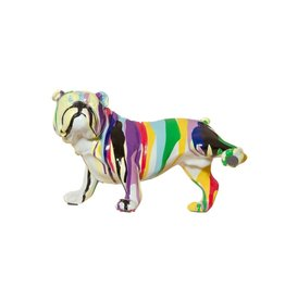 "Interior Illusions 10"" Graffiti Bull Dog w/Leg Up"