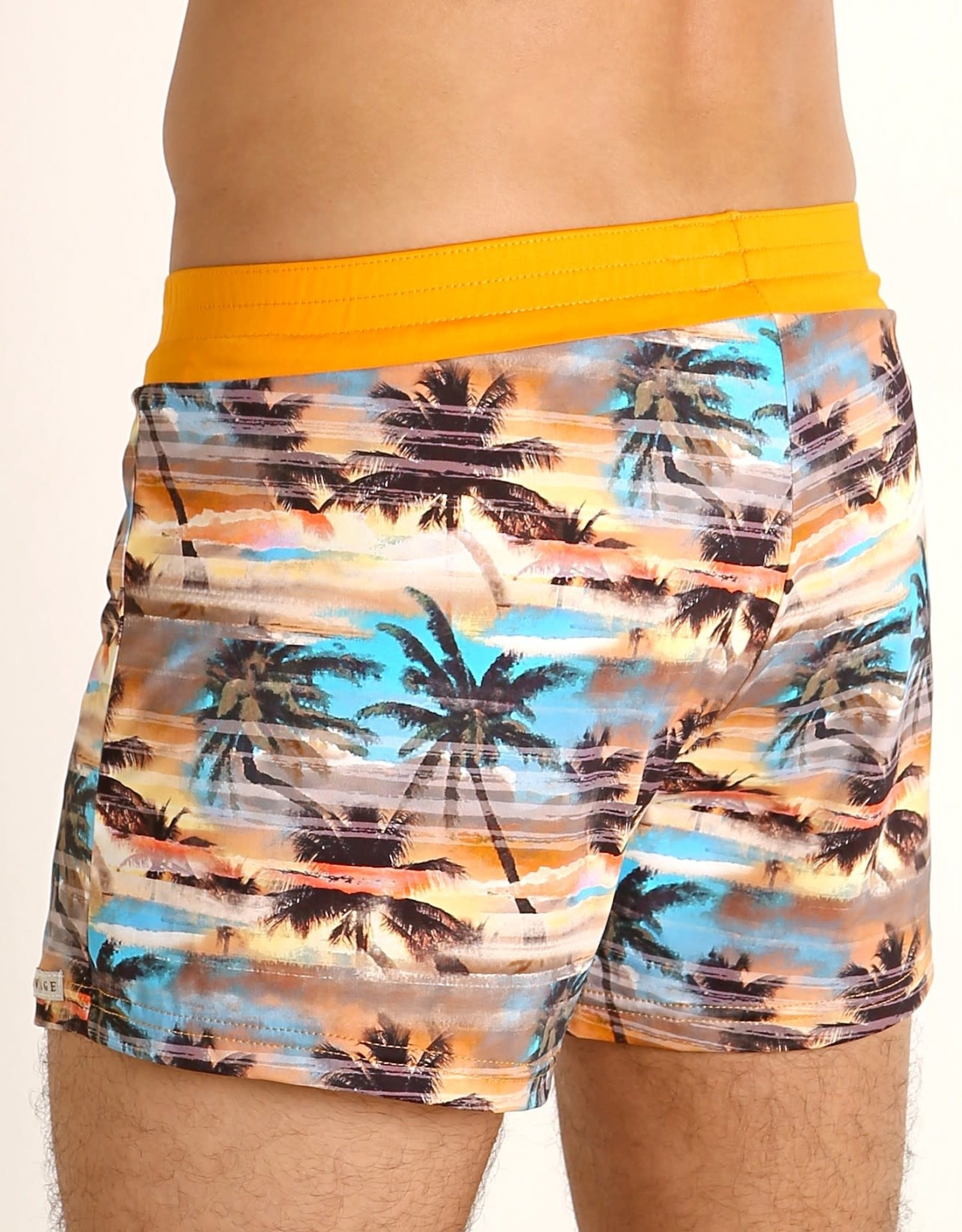Sauvage Sunset Palms Swim Short
