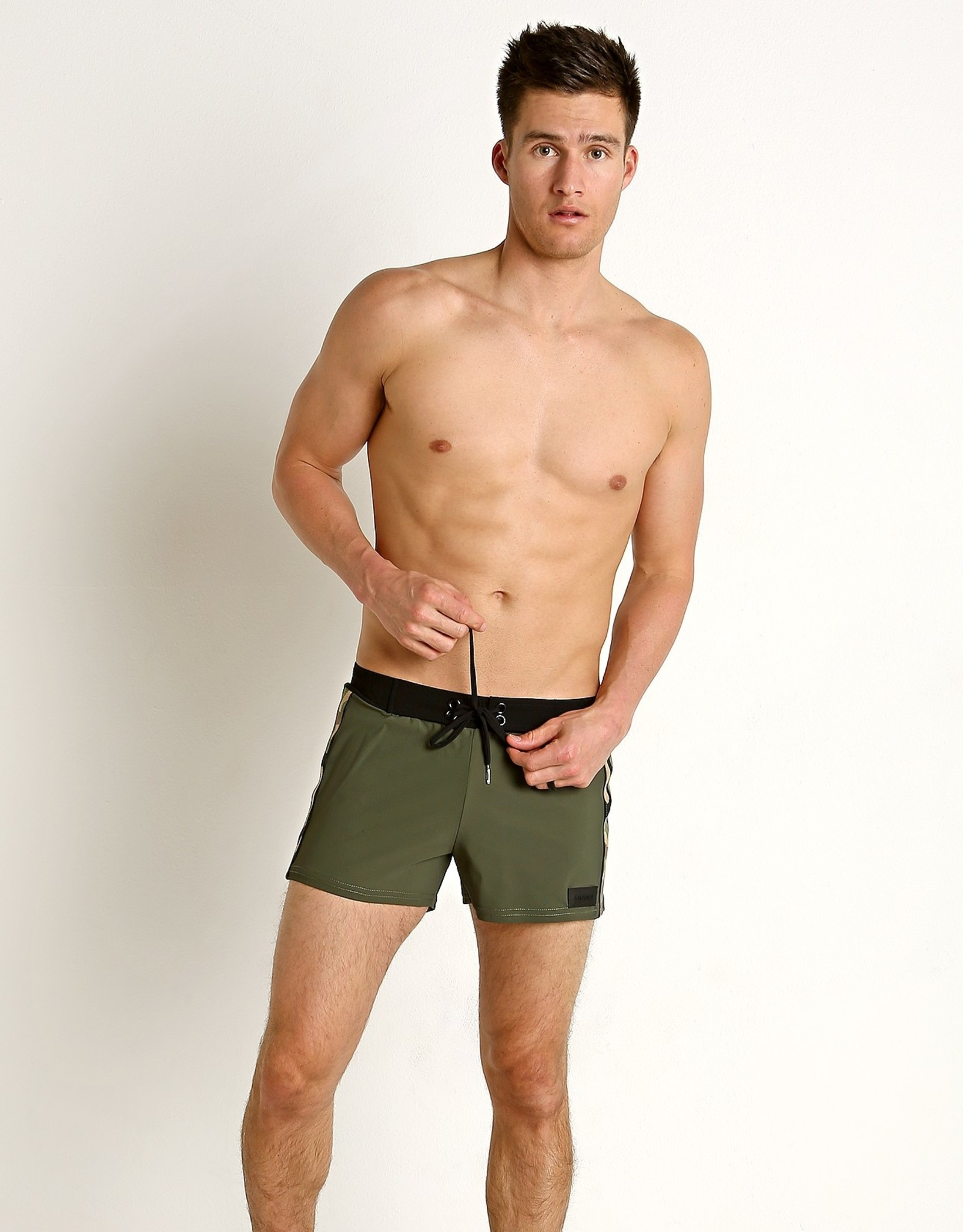 Sauvage Olive Camo Striped Trunk