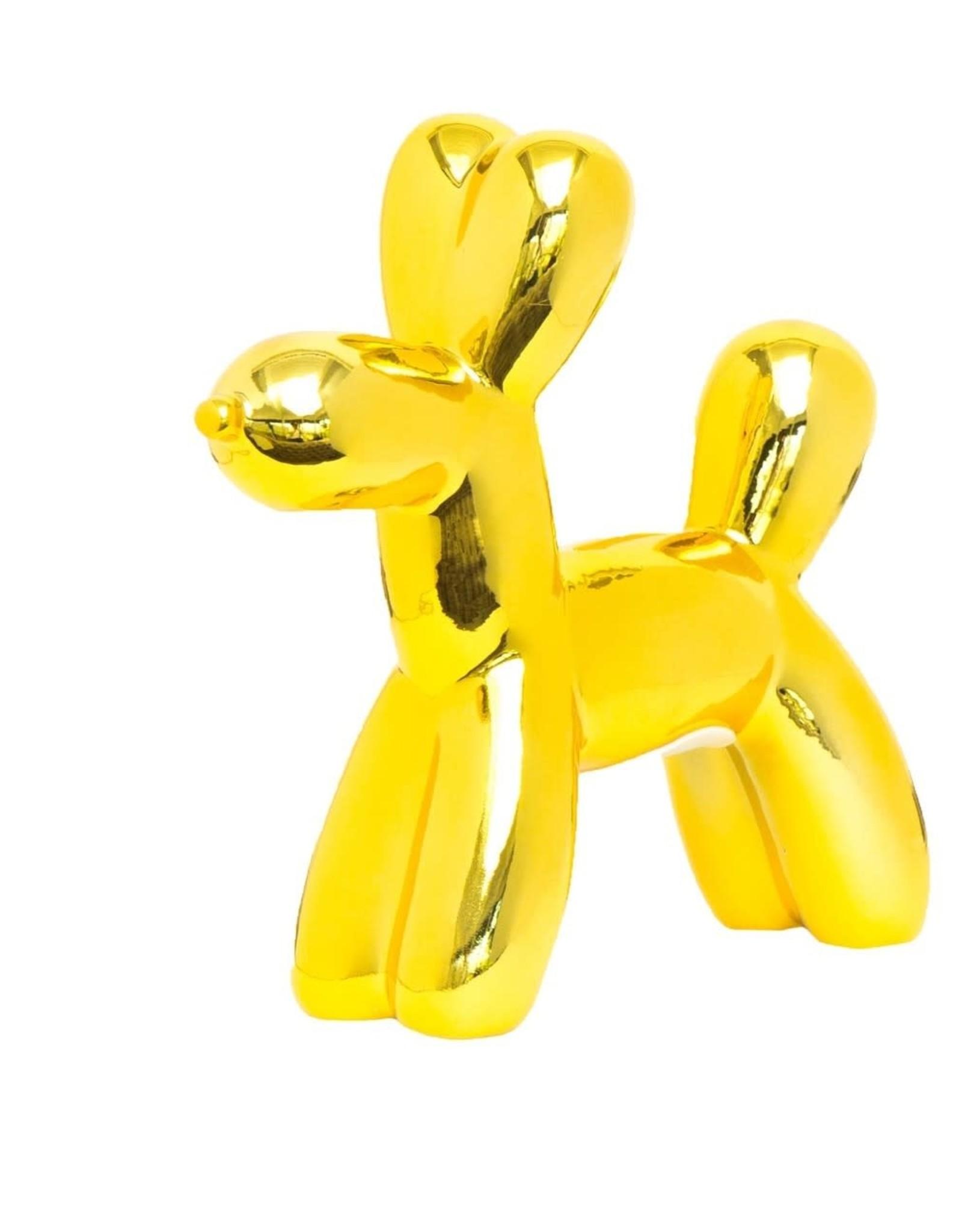 "Interior Illusions 7.5"" Yellow Mini Balloon Dog Bank"