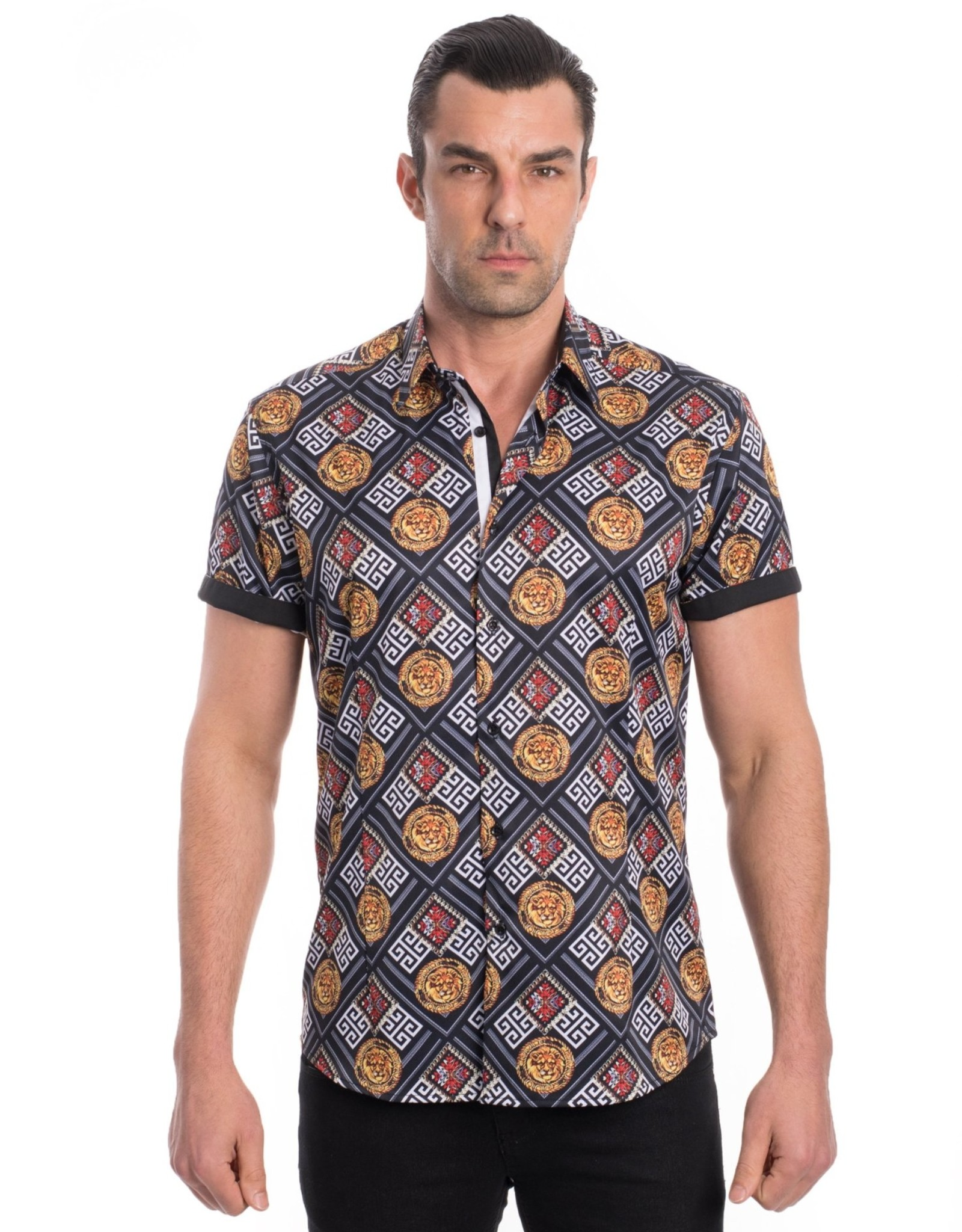 Urban Fitz Black Lion Crest Shirt