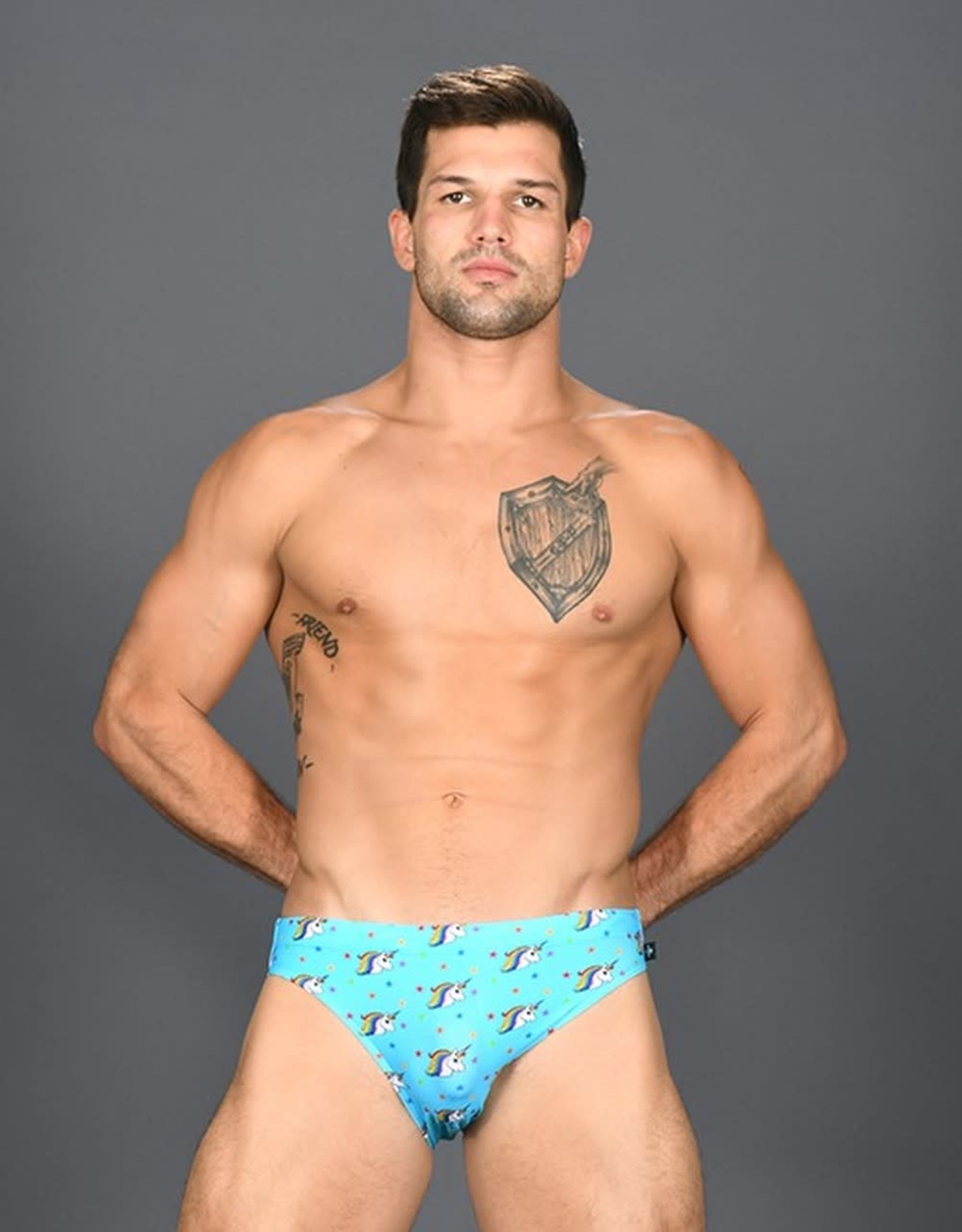 Andrew Christian Rainbow Unicorn Bikini