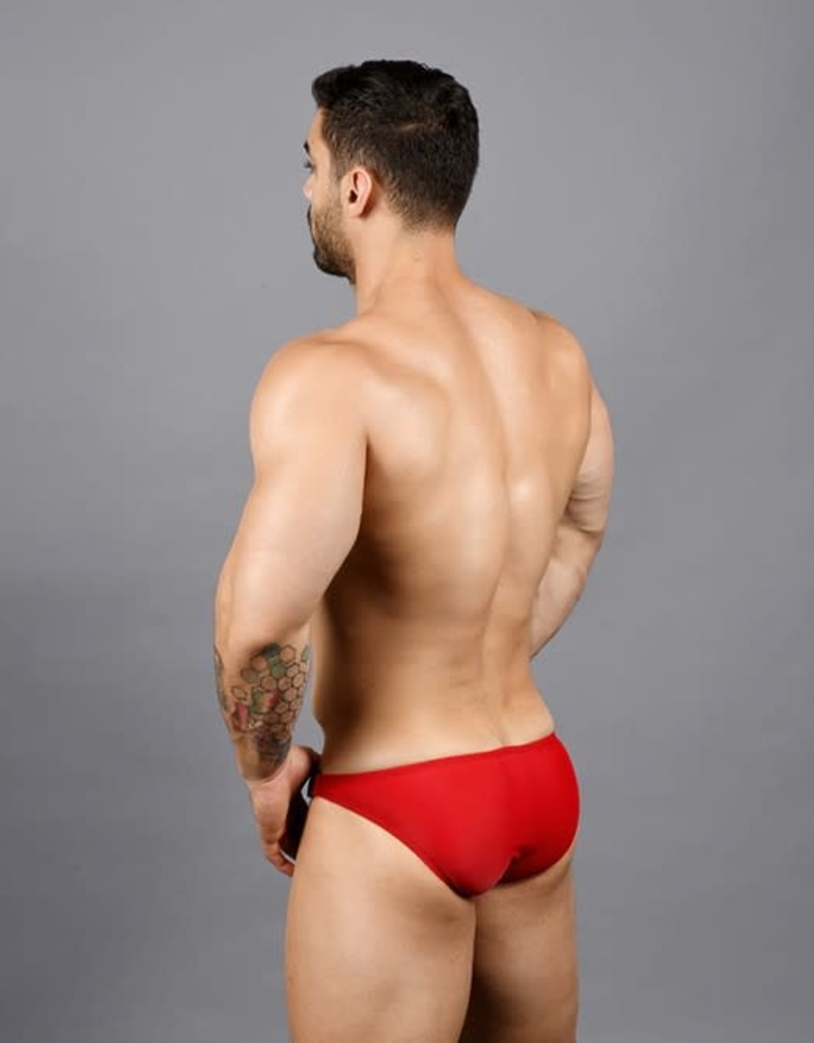 Andrew Christian Red Buckle Micro Bikini