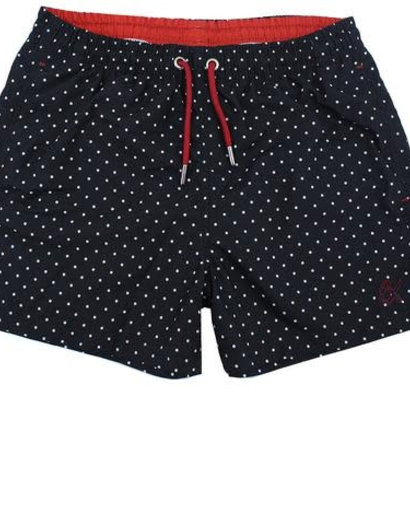Eight X Black/White Dot Swim Trunk