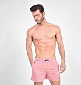 Eight X Red Stripe Swim Trunk