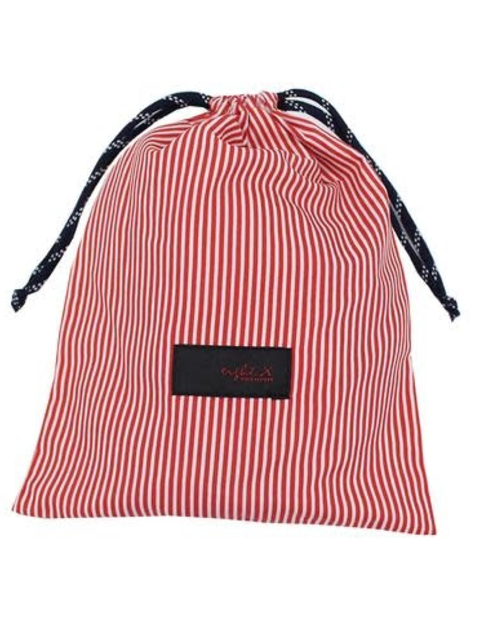Eight X Red Stripe Swim Trunk