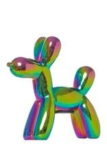 """Interior Illusions 7.5"""" Iridescent Mini Balloon Dog Bank"""