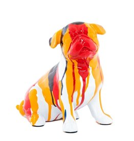 "Interior Illusions 7.5"" Sitting Splatter Art Bulldog"