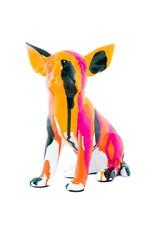 "Interior Illusions 7"" Splatter Art Sitting Chihuahua"