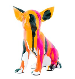 "Interior Illusions 7"" Splatter Art Sitting Chihuahua"