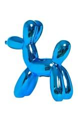 """Interior Illusions 7.5"""" Royal Blue Mini Balloon Dog Bank"""
