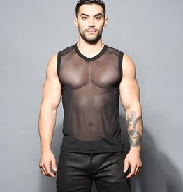 Andrew Christian Sexy Sheer Sleeveless Vneck