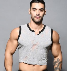Andrew Christian Blast Burnout Crop Tank