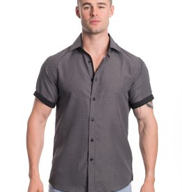 Silver Stone Black Grid  Shirt