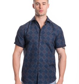 Silver Stone Blue Floral Panel Shirt