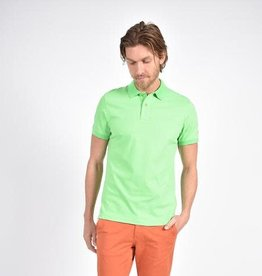 Eight X Green Polo Shirt with Paisley Print Collar