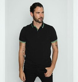 Eight X Black w/Green Trim Polo Shirt