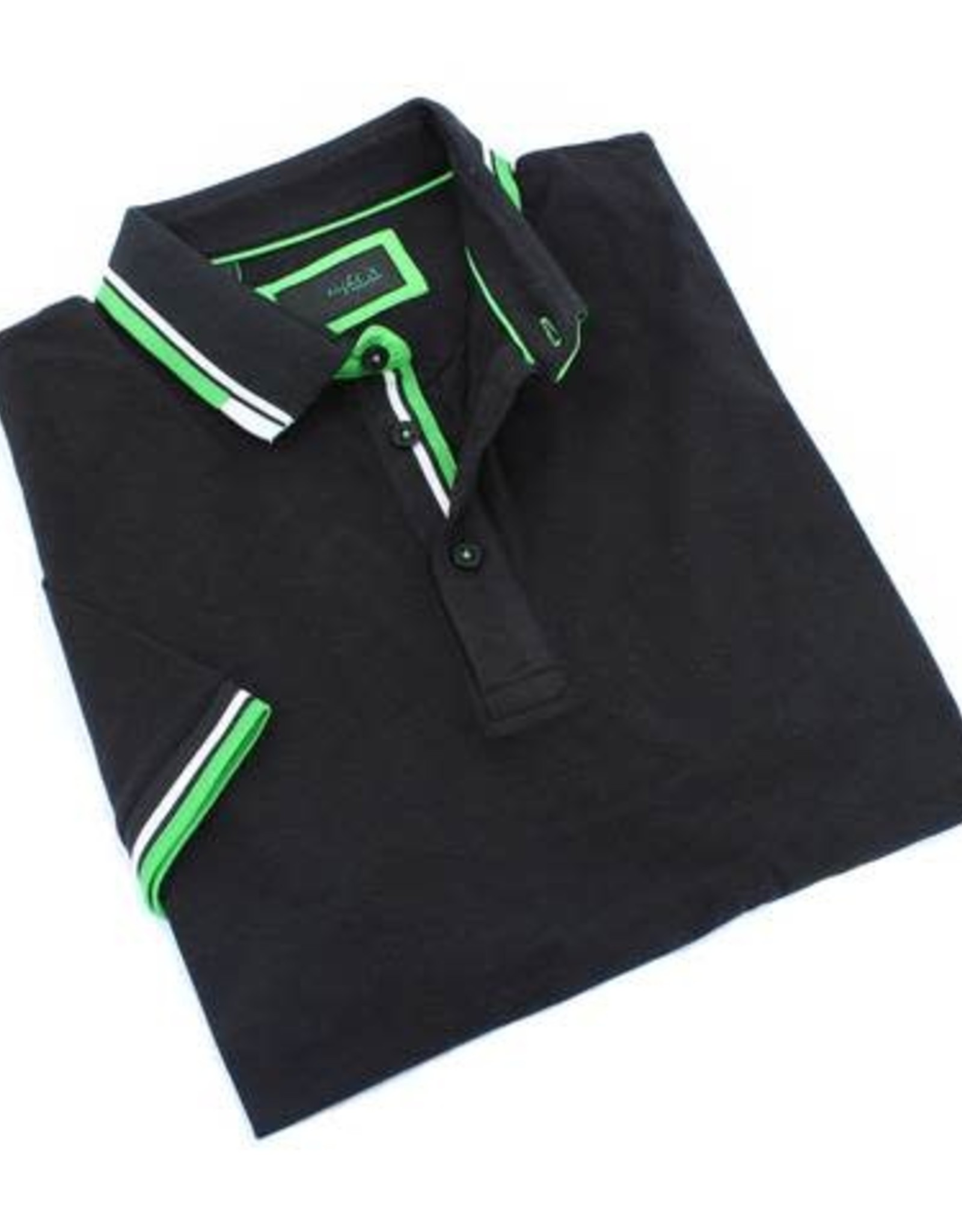 Eight X Black w/Green Trim Polo Shirt