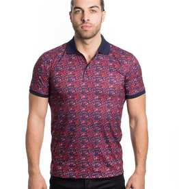 Urban Fitz Red/Blue Floral Polo
