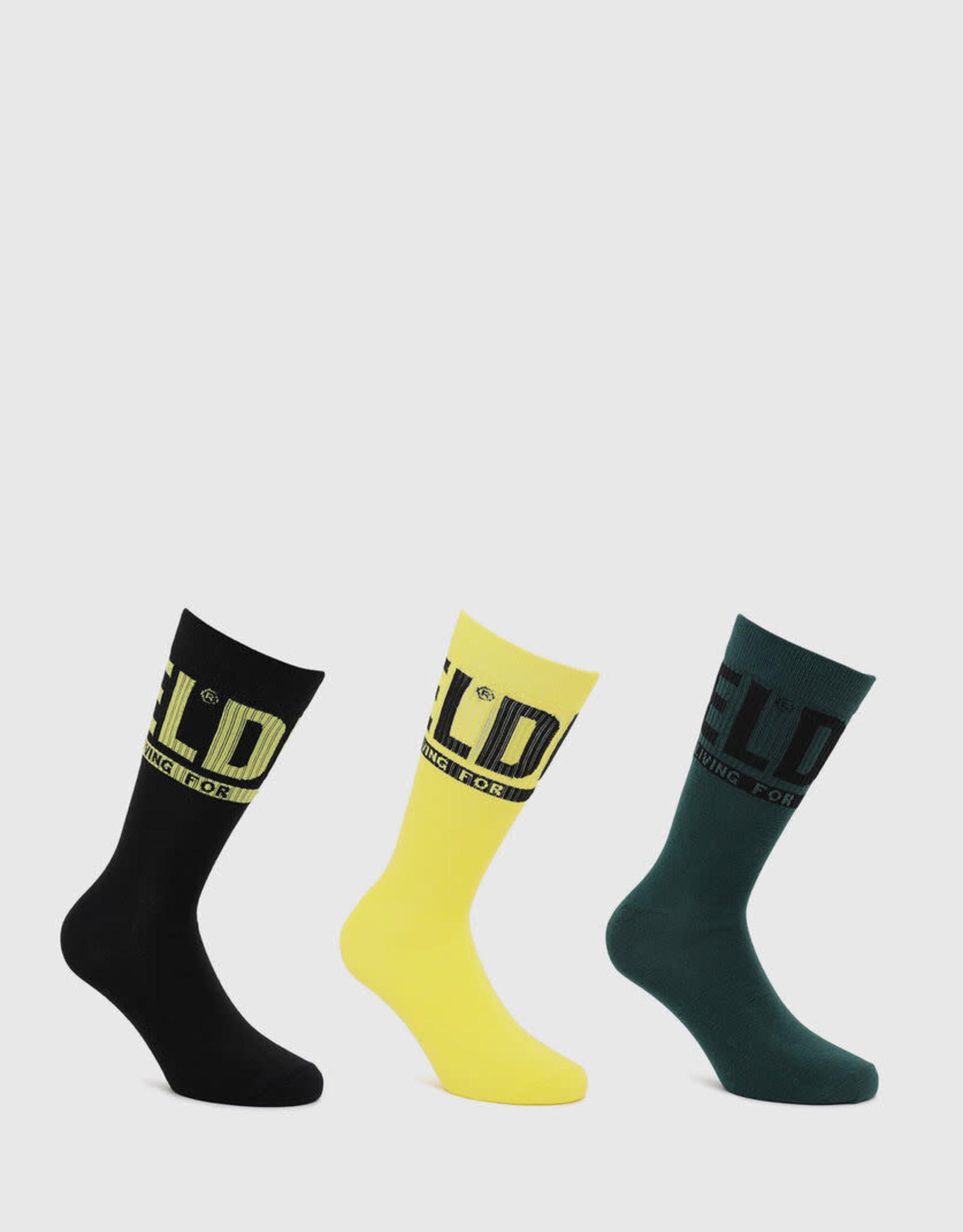 Diesel 3pk Ray Crew Socks