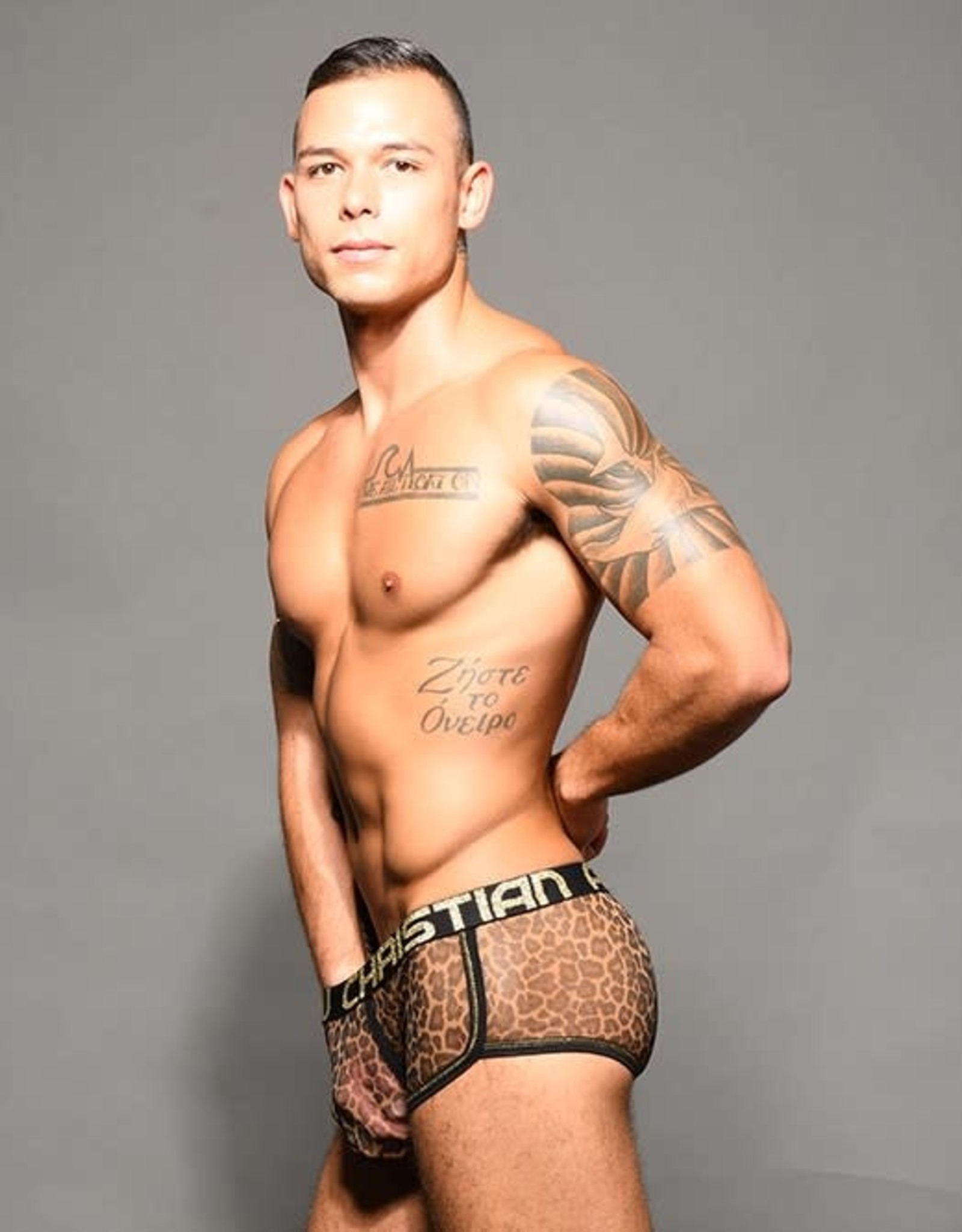 Andrew Christian Sheer Leopard Boxer w/Almost Naked