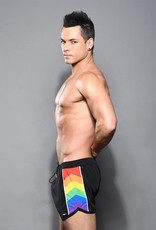 Andrew Christian Pride Active Swim Shorts-Black