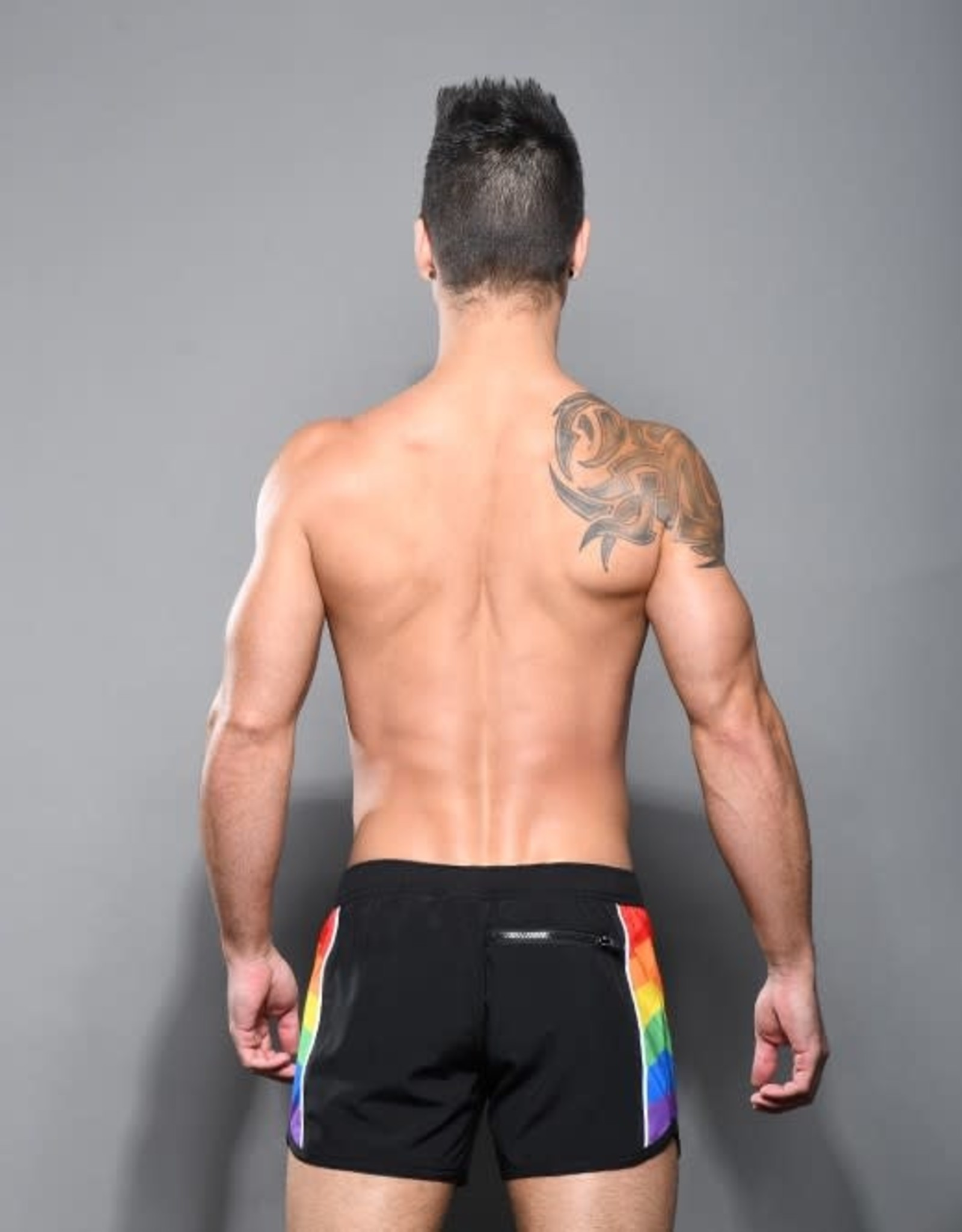 Andrew Christian Pride Active Swim Shorts-Black (in store purchase only)