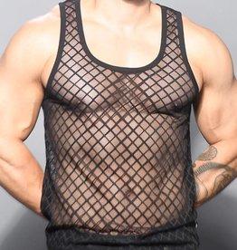 Andrew Christian Lattice Lace Tank