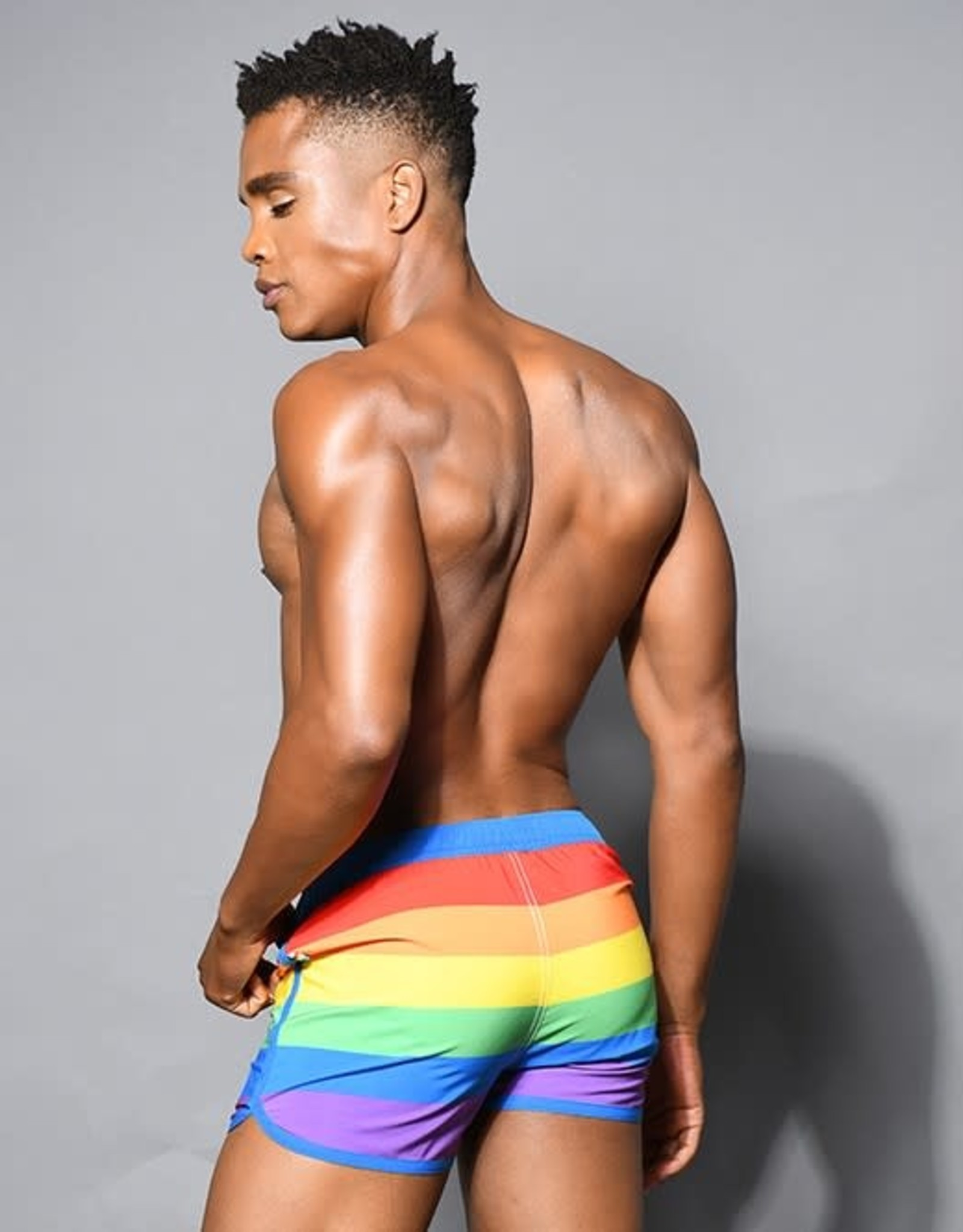 Andrew Christian Pride Stripe Swim Shorts (in store purchase only)