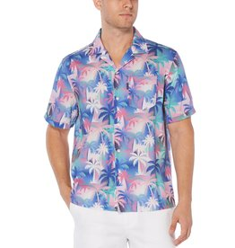 Penguin Palm Tree Camp Shirt