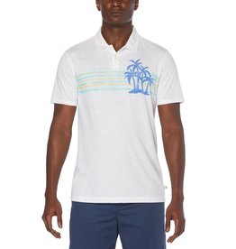 Penguin Palm Stripe Polo