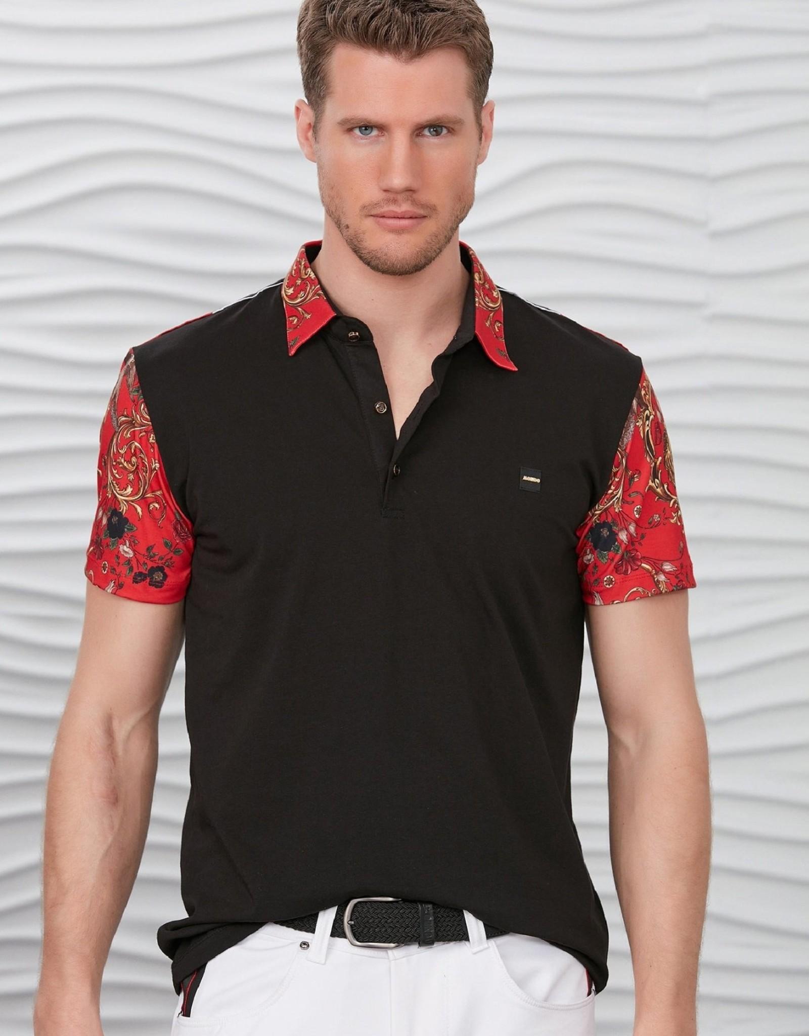 Mondo Black w/Filigree Sleeves Polo