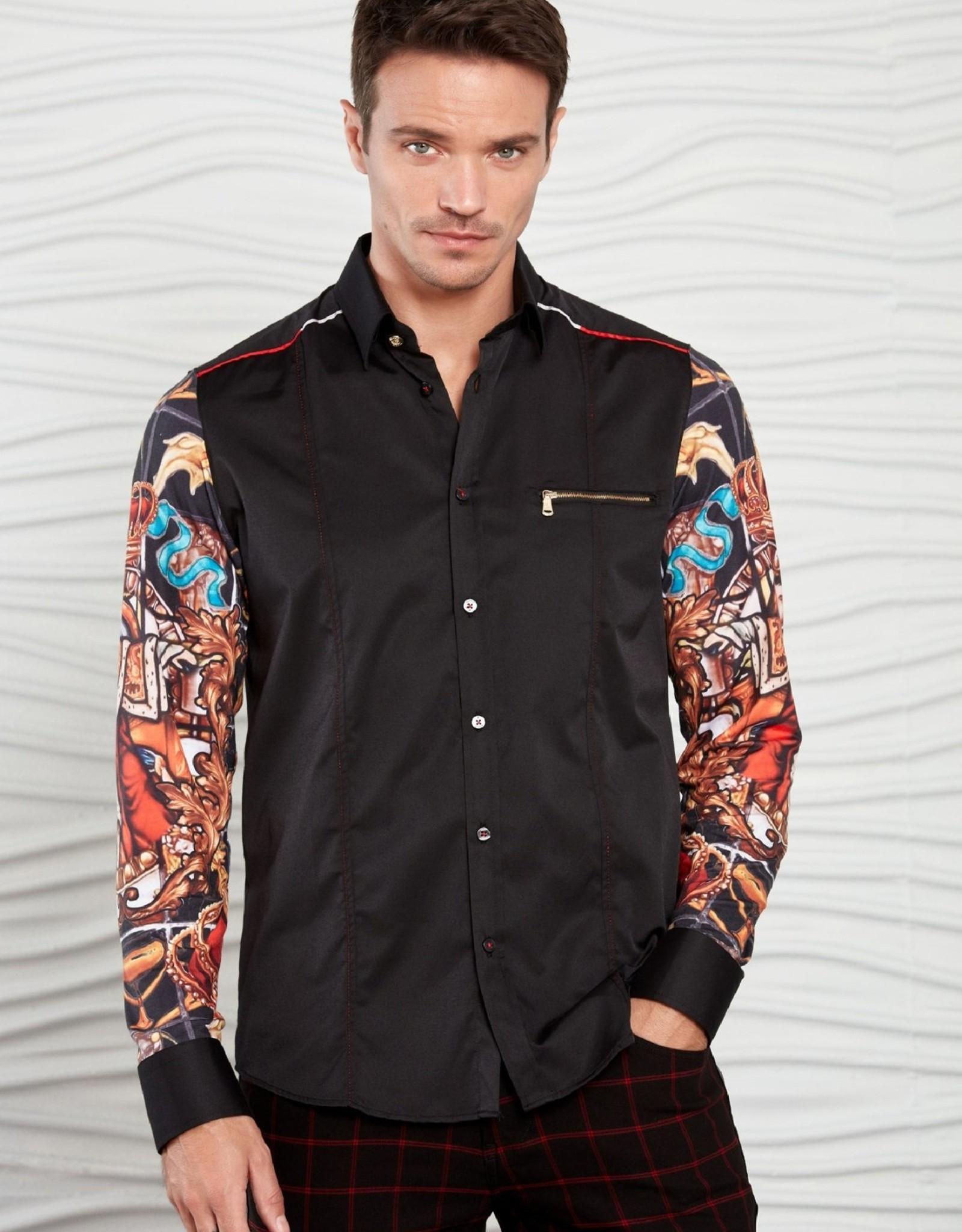 Mondo Black The King Long Sleeve Shirt