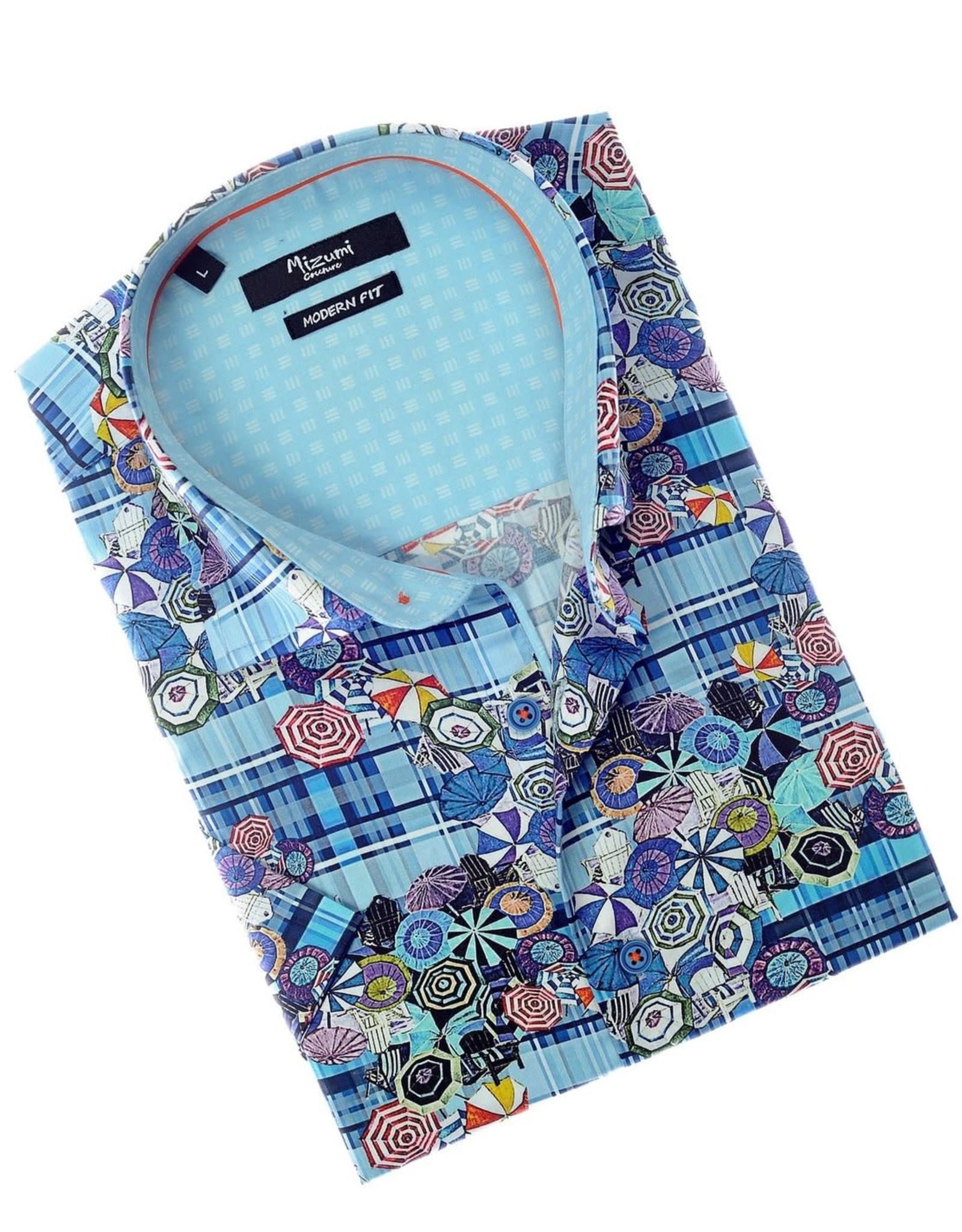 Mizumi Umbrella Print Shirt