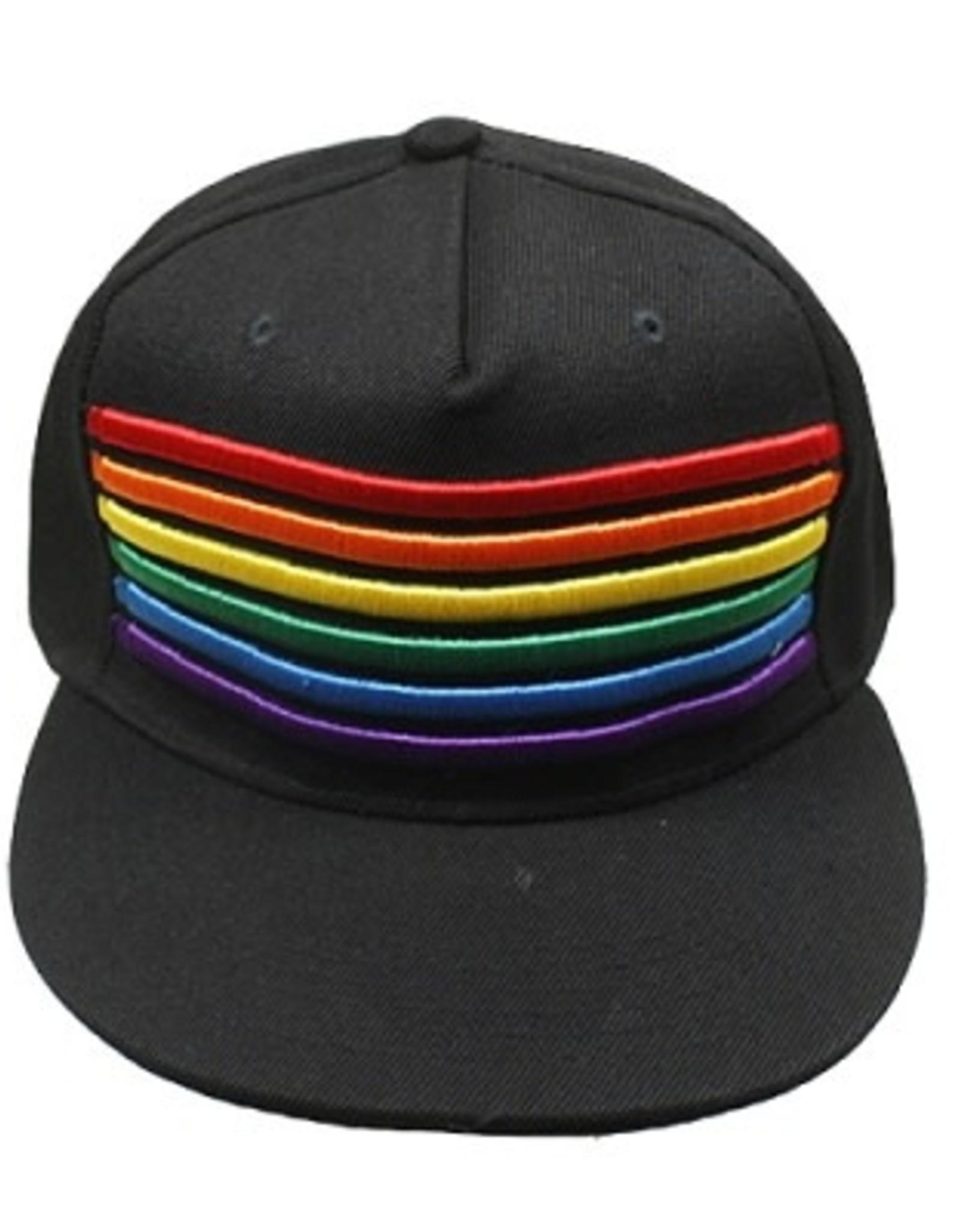 Knobs Rainbow Stripes Canvas Cap