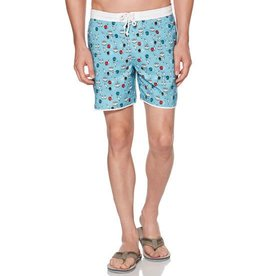 Penguin Bowling Print Swim Trunks