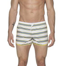 "parke & ronen 3"" Retro Sprinter Stripe Swim Short"