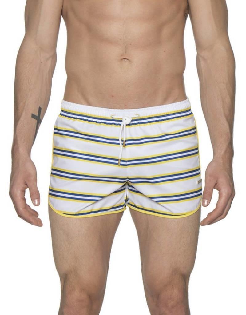"parke & ronen Parke & Ronen 3"" Retro Sprinter Stripe Swim Short"