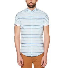 Penguin Penguin Blue Stripe Short Sleeve Shirt