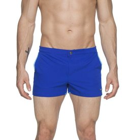 "parke & ronen Parke & Ronen  Blue 2"" Angeleno Solid Stretch Swim Trunk"