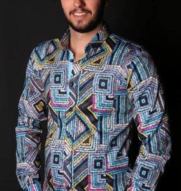Eight X Multi Blue Long Sleeve Shirt