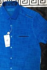 Mondo Mondo Blue Stripe Short Sleeve Shirt