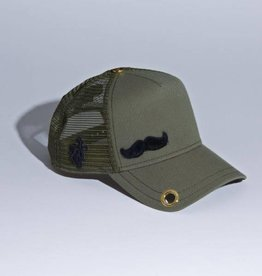 "Red Monkey Red Monkey Olive ""The Stache"" Cap"