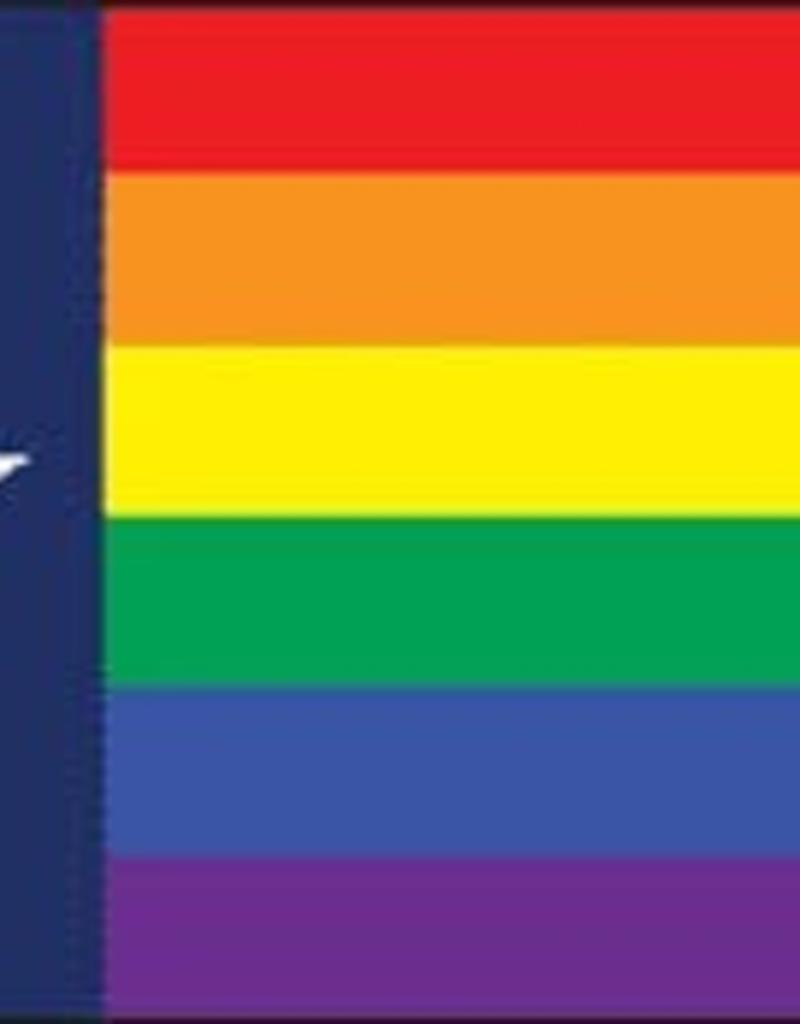 Pride 3x5 Rainbow Pride Texas Flag