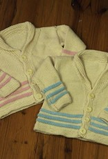 Appalachian Appalachian Baby Designs - Hill & Holler Cardigan Kit In Natural & Pink