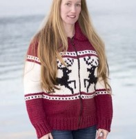 Art of Yarn Vintage Pattern* - Sweater with Jumping Reindeer