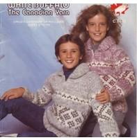 Art of Yarn Vintage Pattern* - Cowichan Style Sweater For Sizes 2 - 8 (PDF)