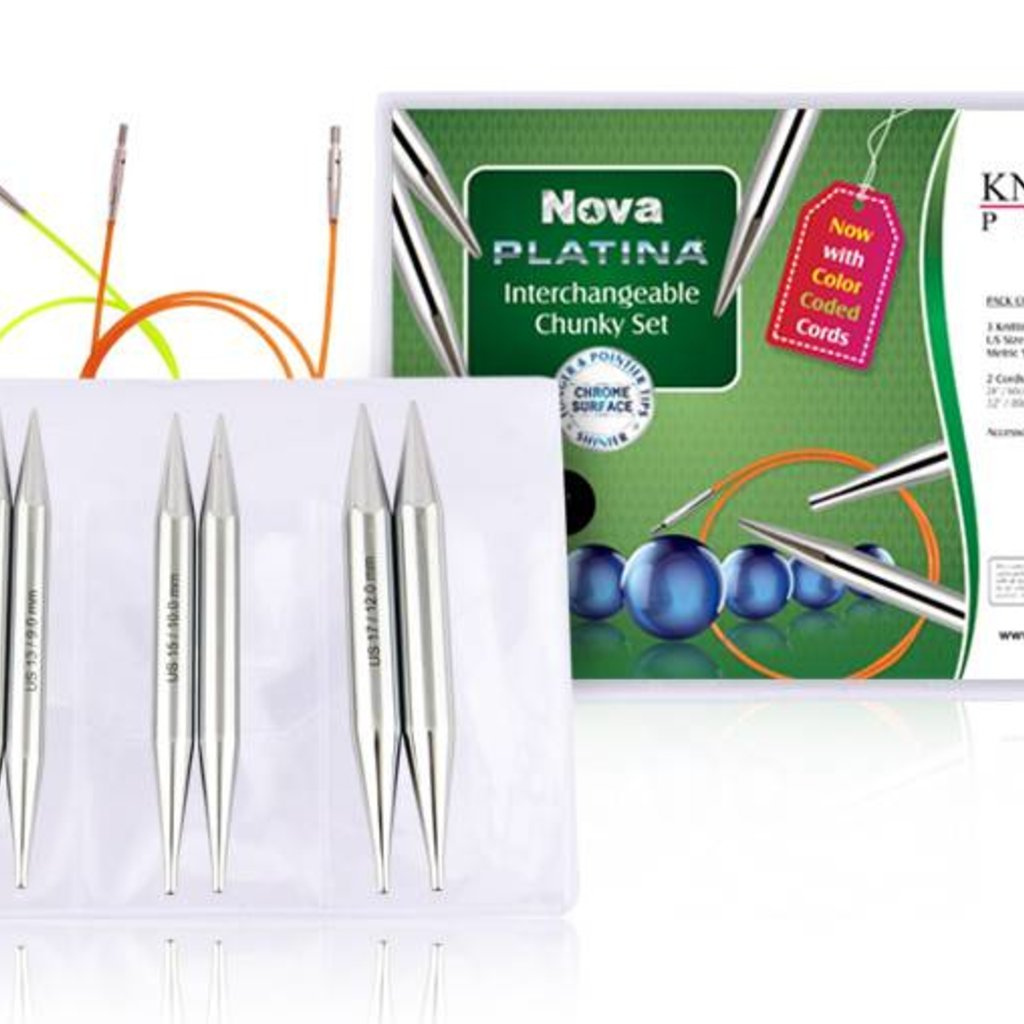 Knitter's Pride Nova Platina Normal Length IC Needle Chunky Set