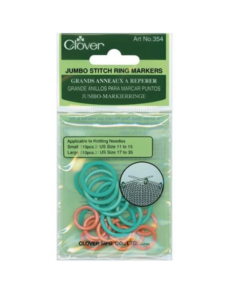 Clover Clover Stitch Markers, Jumbo Ring (354)