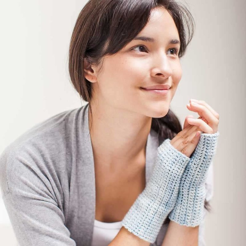Churchmouse Yarns & Teas Churchmouse - Crocheted Handwarmers